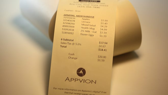 A new receipt paper made with vitamin C can be found in select stores around the country, including St. Vincent DePaul of Appleton; Jacob's Meat Market in Appleton; and Tom's Drive In's East Wisconsin Avenue location in Appleton.