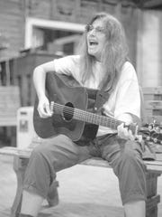 Rachel Bissex, pictured here in 1995, was a core member of Camp Common Ground for many years. She passed away in 2005, a major loss for the community, and her memory will be honored at the 20th anniversary celebration through musical tributes.