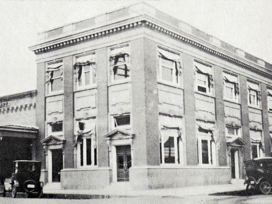 St. Landry Bank & Trust Company with A. Clary Store next door