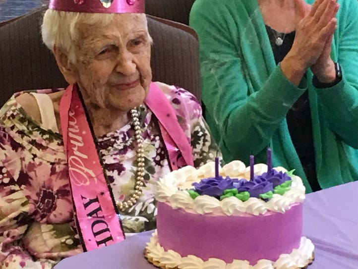 Westland resident Phyllis Brown celebrates her 105th