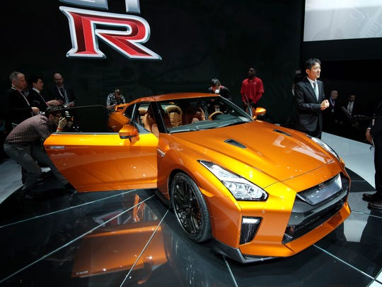 The 2017 Nissan GT-R is unveiled during the New York International Auto Show on March 23, 2016.