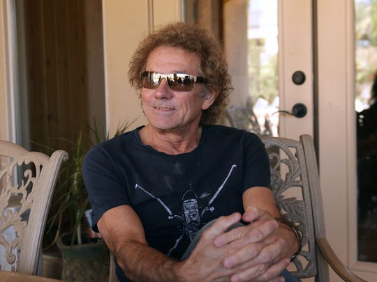 Mickey Thomas talks about his musical career during an interview at his Palm Desert home, November 26, 2015.