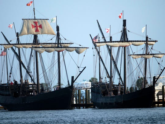 Replicas of the ships used by explorer Christopher Columbus, the Nina and Pinta, will dock later this month at the Perdido Key Oyster Bar and Restaurant.