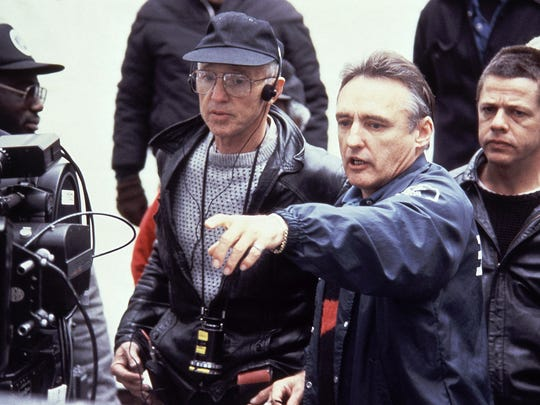 This 1988 file photo shows director Dennis Hopper,