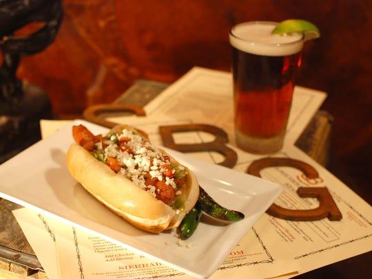 The Sonoran hot dog at Sierra Bonita Grill.