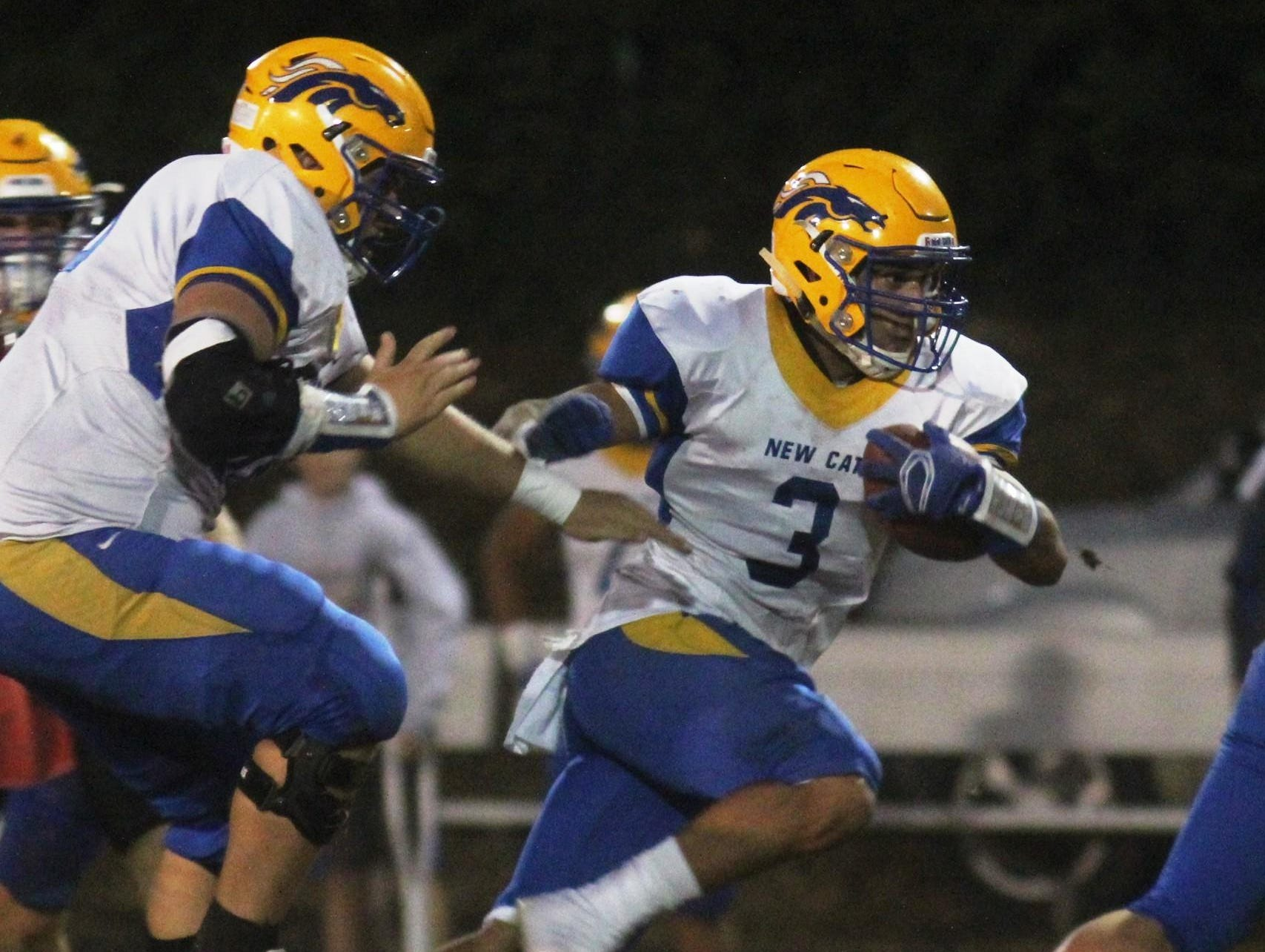 NewCath running back Jake Smith has been a workhorse this season. He has rushed for 1,370 yards and 15 touchdowns in nine games.