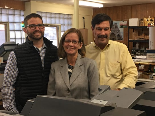 From left: Matt, Sheila and Rick Elliott pictured at