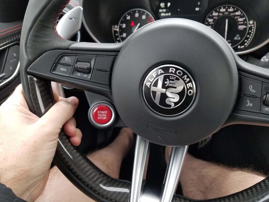 With its Alfa shield and red STARTER button, the Alfa
