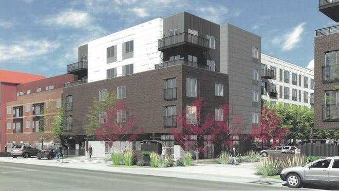 This is an artist's rendering of housing proposed by CA Ventures for  Willow Street, east of College Avenue.