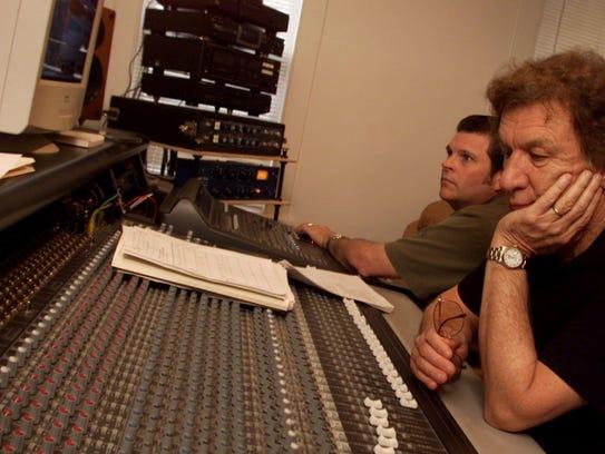 With engineer David Ponder at his side, gospel singer