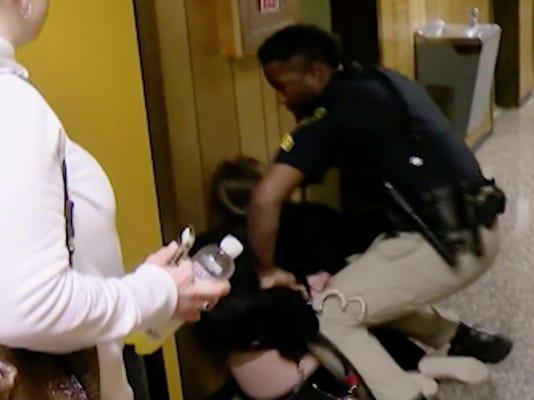 Teacher Handcuffed