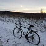 It you like stark landscapes, and I do, winter biking is the best.