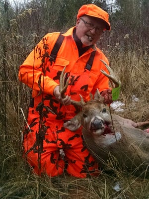 Dennis Andre of Algoma shot this 9-point buck in Kewaunee County.