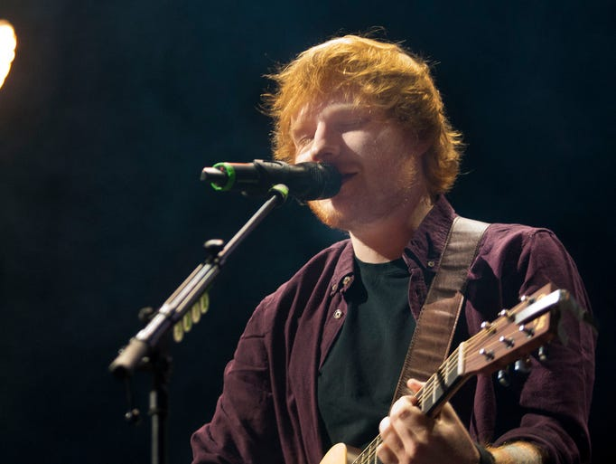 "Ed Sheeran performs ""I'm a Mess""  from the album X live at Jobing.com Arena in Glendale on Aug 31, 2014."