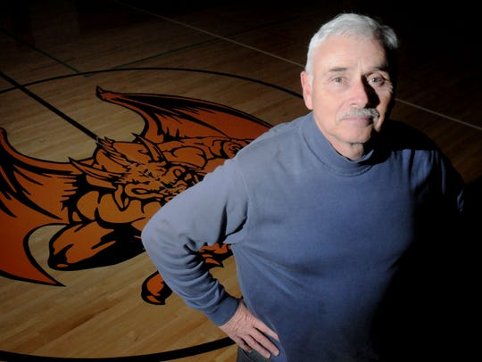 Dover High School athletic director and boys soccer coach Bob Esposito poses in the school gymnasium in this 2010 file photo.