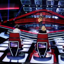"""Season 7 of """"The Voice"""" kicked off with Blind Auditions Monday and Tuesday night on NBC. Pictured: Taylor Phelan  -- (Photo by: Tyler Golden/NBC)"""