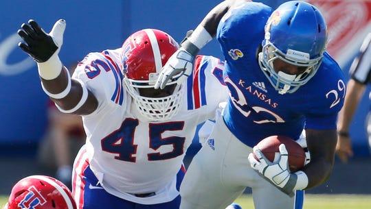 Louisiana Tech defensive lineman Vernon Butler (45)
