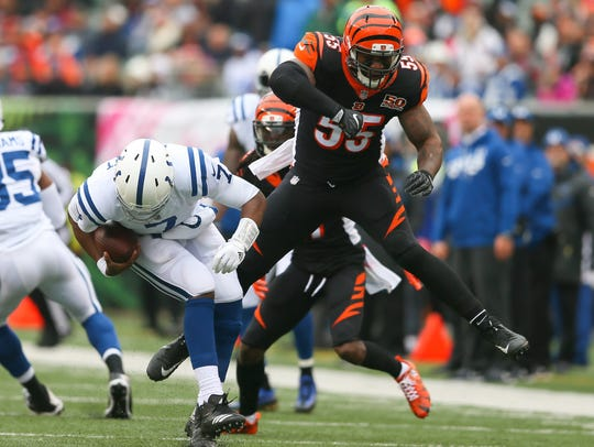 Vontaze Burfict has moved to middle linebacker for