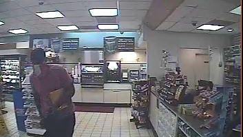 Robber of the Golden Pantry shown inside the store.