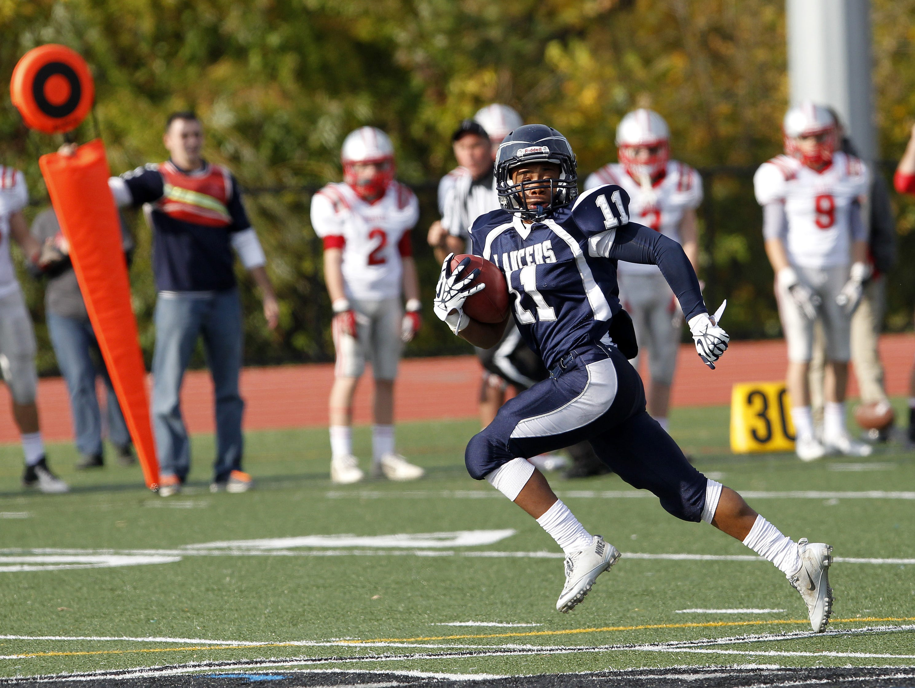 East Irondequoit Eastridge rising junior CJ Turner, shown during a game in 2013, received his first offer to play college football on scholarship.