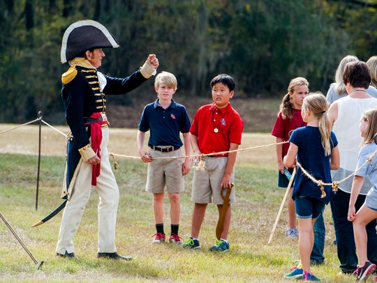Grant Hardin portrays Andrew Jackson during Alabama Frontier Days at Fort Toulouse - Fort Jackson in Wetumpka on Nov. 2, 2016.