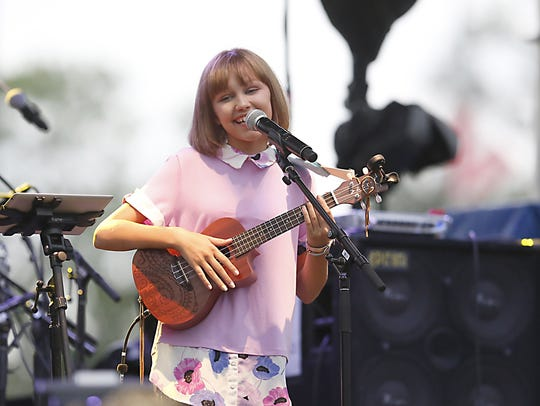 Grace VanderWaal performs for fans at the Ramapo Summer