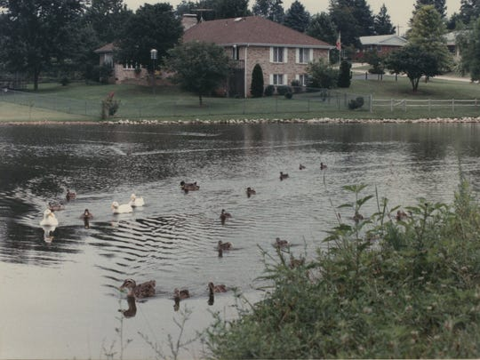 This photo of a lake in Southern Hills was taken in 1989.