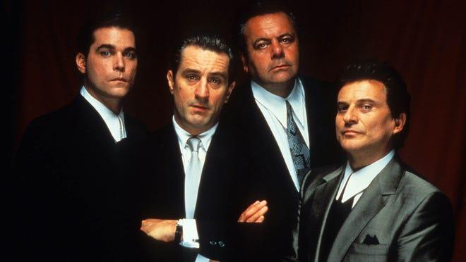"From left, Ray Liotta, Robert De Niro, Paul Sorvino and Joe Pesci starred in ""Goodfellas,"" which hit screens 30 years ago."