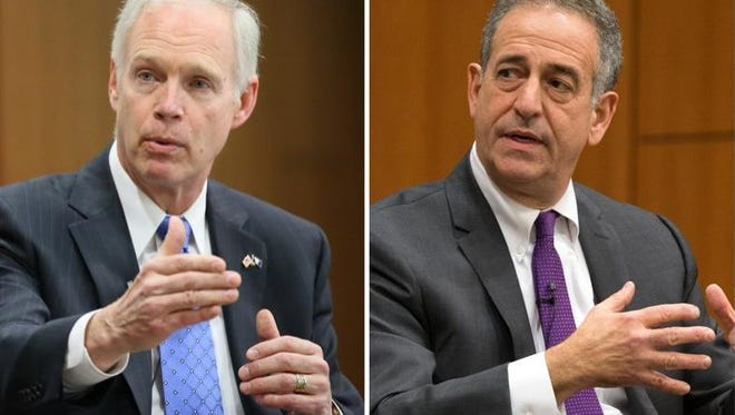 Ron Johnson (left) and Russ Feingold.