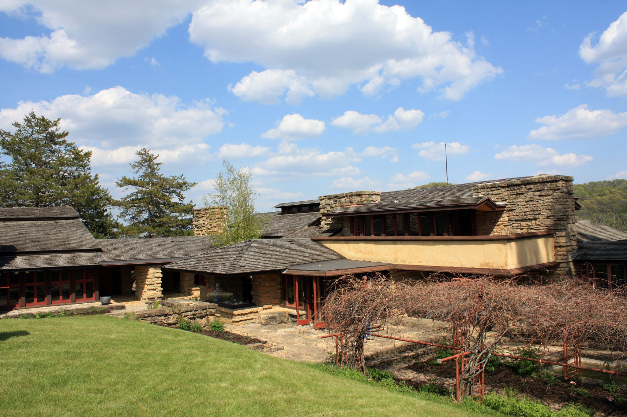 frank lloyd wright built taliesin into a hill in spring green photo chelsey lewis milwaukee journal sentinel