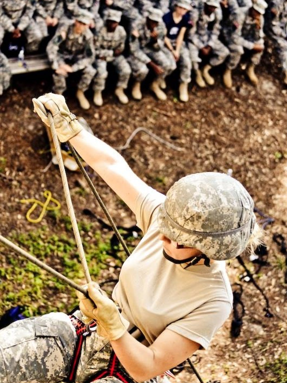 Jordan Allen during a rappelling class in 2013.