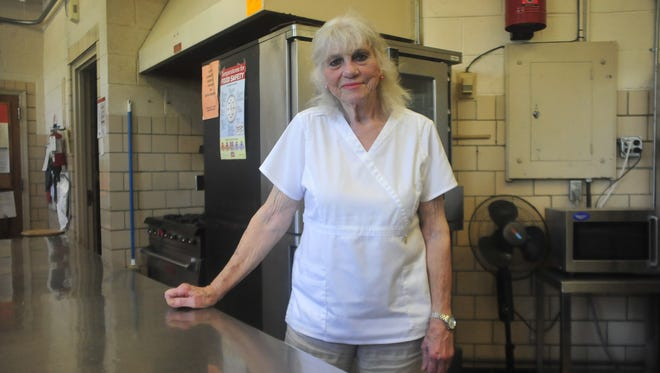 Janice Horner retired Wednesday after 47 years as a cook in the Mansfield school district.
