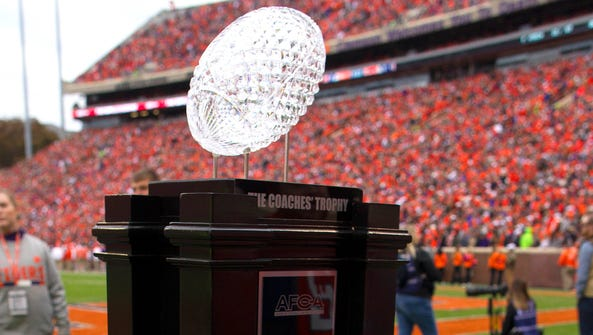 The AFCA Coaches Trophy presented by Amway.
