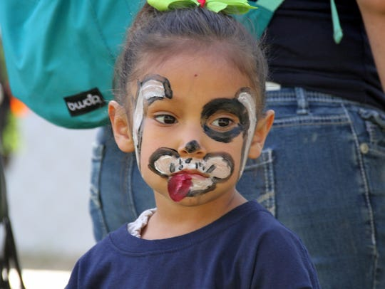 Three-year-old Mia Morales sports a masterpiece on