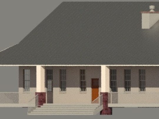 A 3D model of the house designed by Southern Utah University student Dustin Gale, for Rebekah Laird of the Canyon Creek Women's Crisis Center in Cedar City.