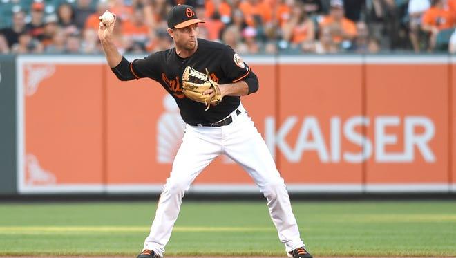 Baltimore Orioles shortstop J.J. Hardy.