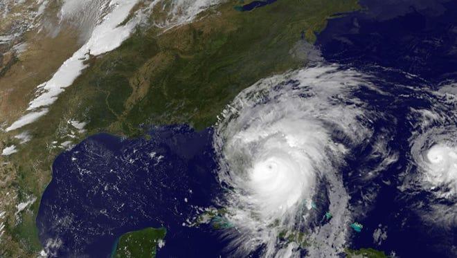Hurricane Matthew as seen from satellite, Oct. 6, 2016