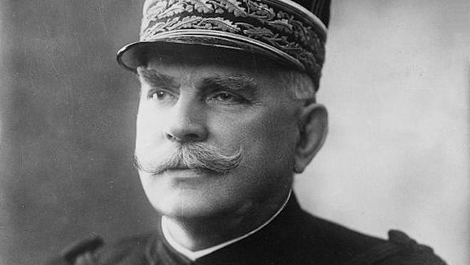General Joseph Jaques Joffre served as Commander-in-Chief of French forces on the Western Front during the first half of World War I. He and members of the French high army were honored in Richmond on May 8, 1917.