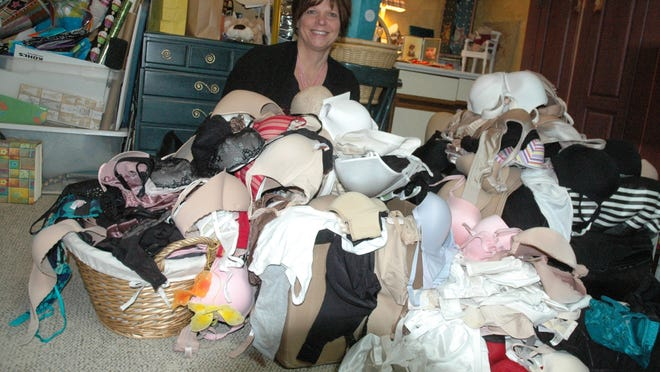 Millie Heinz donated more than 600 bras to those in need in 2013. Mid-Michigan organizations received 300 of them, while the remainder were sent to victims of Superstorm Sandy.