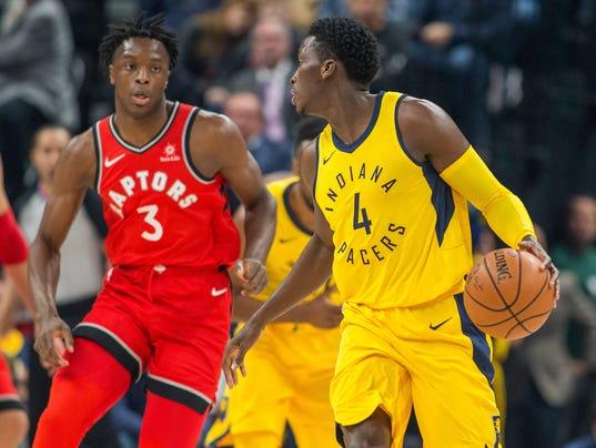 NBA: Toronto Raptors at Indiana Pacers