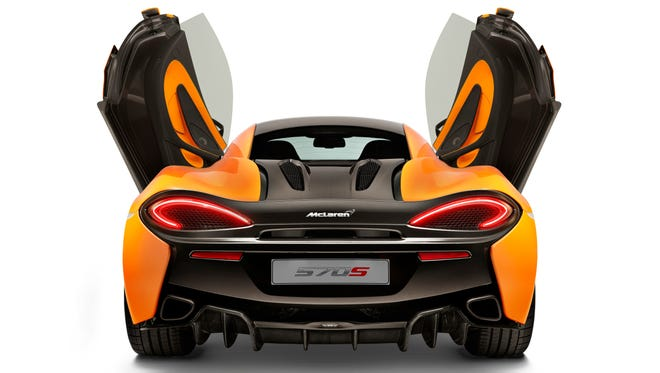 Race-car maker McLaren says its most practical car ever is the 570as, unveiled at the 2015 New York auto show.