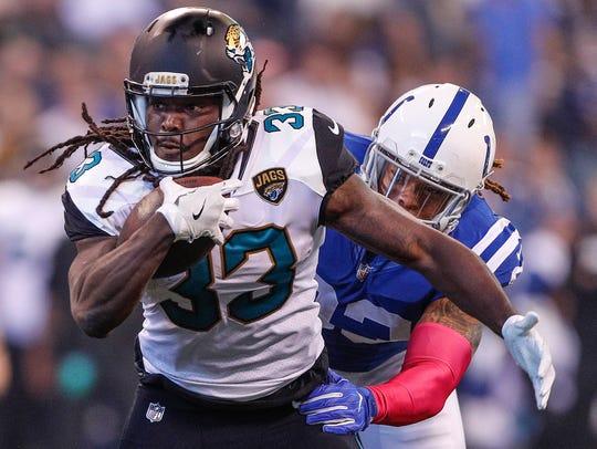 Jacksonville Jaguars running back Chris Ivory (33)