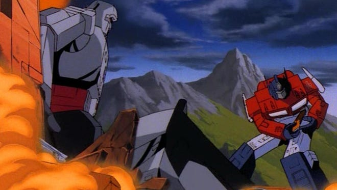 """A scene from the 1986 film """"The Transformers: The Movie."""""""