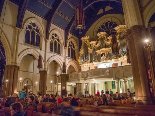 Christ Church provides a stunning backdrop for compline