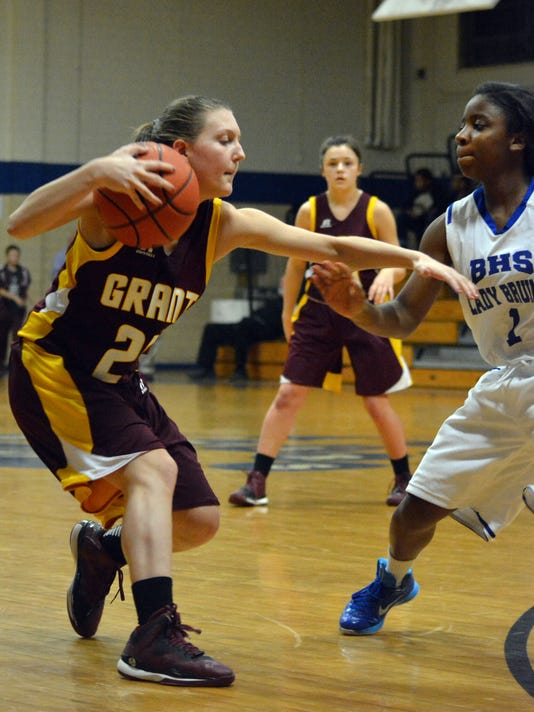 ANI Bolton vs Grant Grant's Brittany Freeman (25, left) looks to get past Bolton's Y. Howard (1, right) Tuesday, Jan. 20, 2015.-Melinda Martinez/mmartinez@thetowntalk.com The Town Talk Gannett
