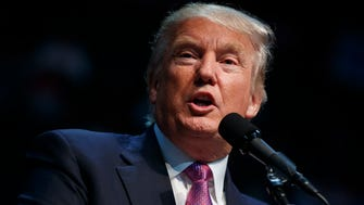 Republican presidential candidate Donald Trump speaks during a campaign rally on Tuesday in Everett, Washington.