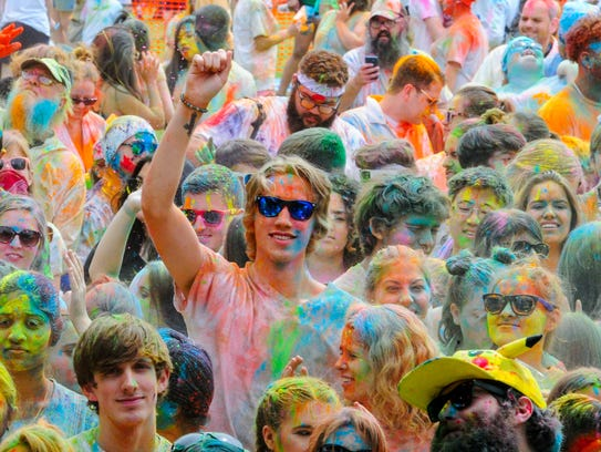 The 6th Annual Lafayette Holi Festival at Girourd Park.