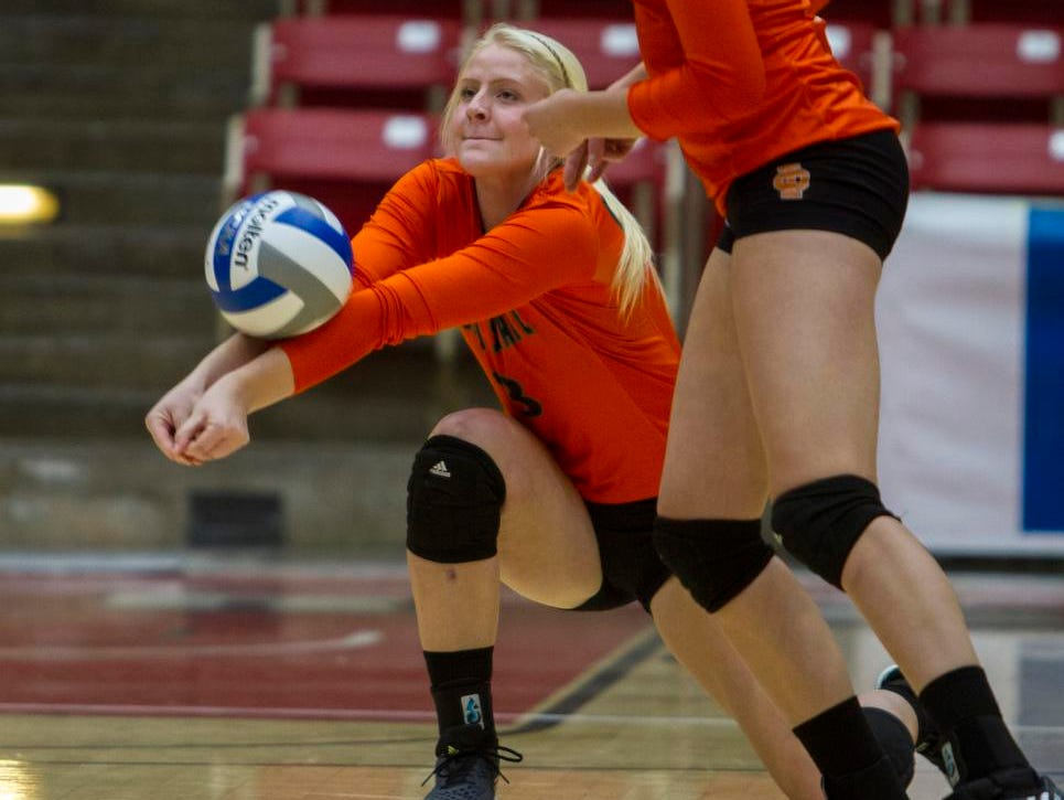 Idaho State's Riley Lyman passes the ball in a match against SUU, Thursday, Oct. 15, 2015.