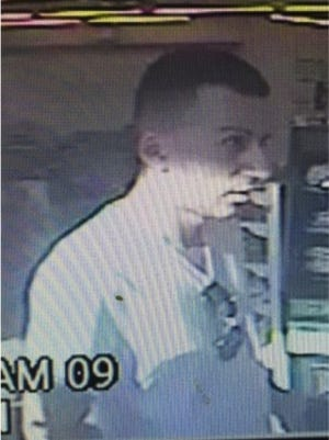 """Shrewsbury Police are looking for this man, known as """"Sammy,"""" who is believed to have taken part in an ATM card skimming operation."""