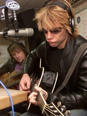 Jon Bon Jovi and Richie Sambora perform on-air at WDHA in Hanover in 2002.